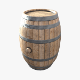 Wooden Barrel - 3DOcean Item for Sale