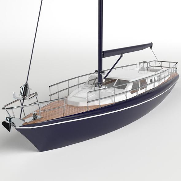 Berthed Sailboat - 3DOcean Item for Sale
