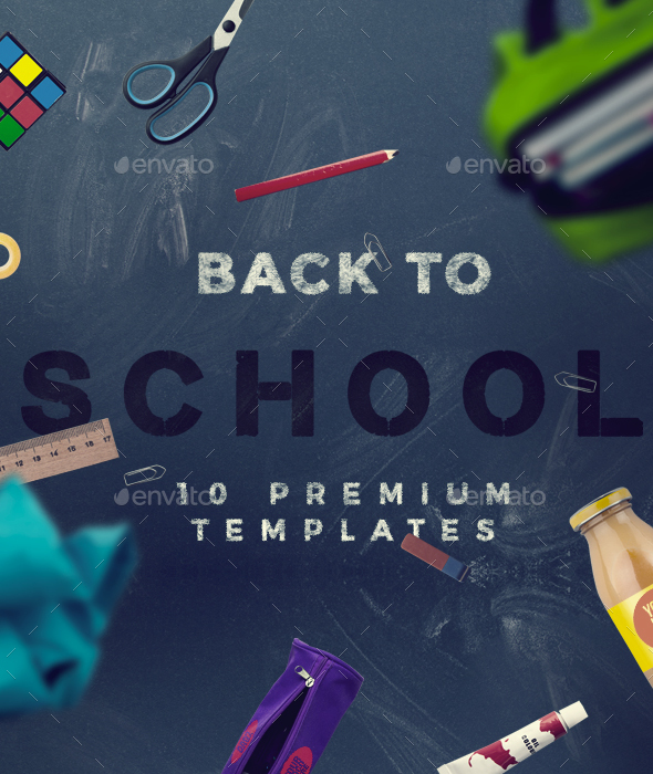 Back To School - 10 Hero Image Templates - Hero Images Graphics