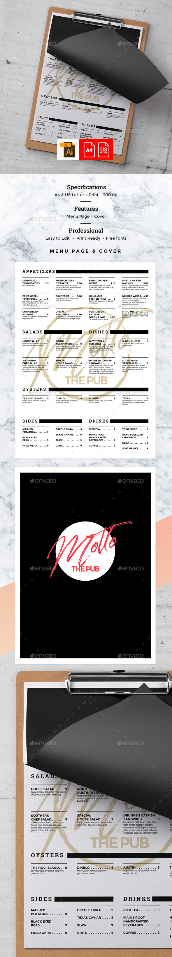 Cafe Food Menu - Food Menus Print Templates