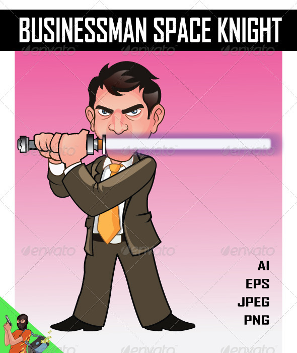 Businessman Space Knight - People Characters