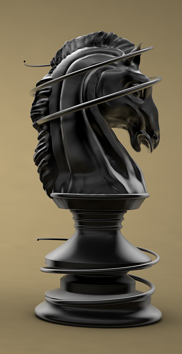 Famous Sculpted Knight Chess Piece by Abdelrahman_El-masry | 3DOcean EY85