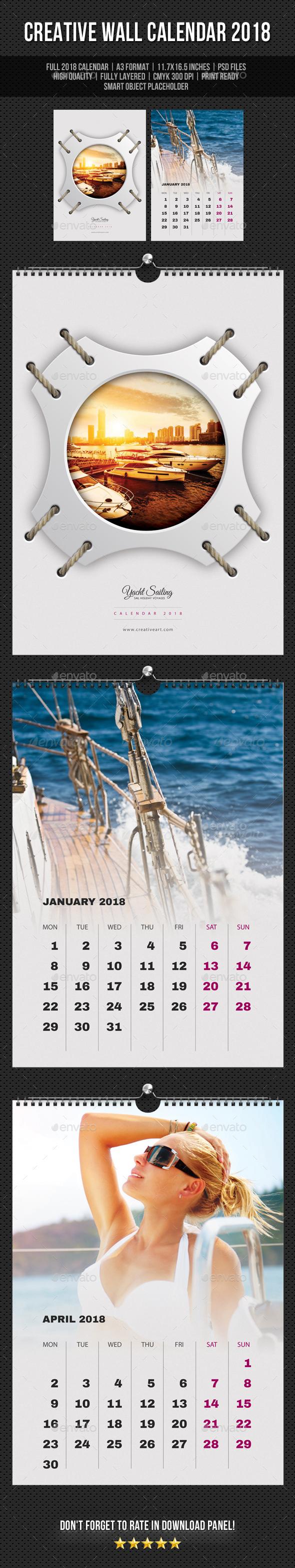 Creative Wall Calendar 2018 V08