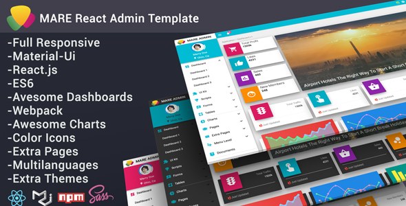 Marvelous Mare - Material & React Admin Template
