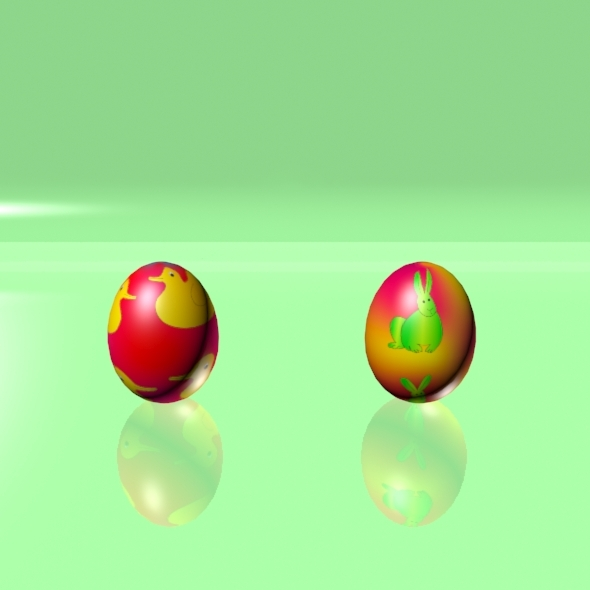 Easter Eggs Set 06 - 3DOcean Item for Sale