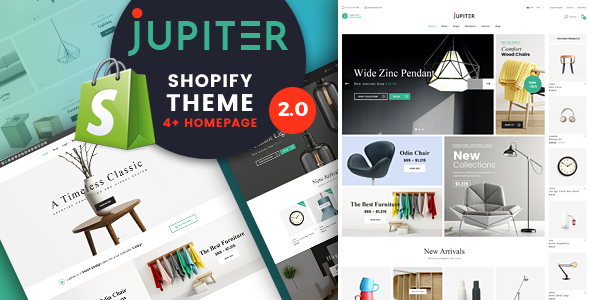 Shopify Theme – Jupiter – Responsive Drag & Drop