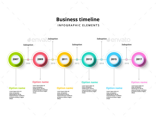 timeline infographic elements template by grafvishenka graphicriver