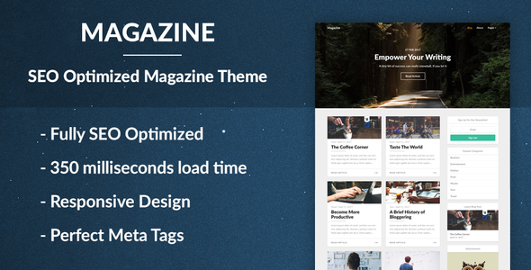 Magazine - SEO Optimized News and Newspaper Theme - News / Editorial Blog / Magazine
