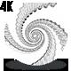 Sketch Spiral Loop - Dragon Skin Black & White 4K - VideoHive Item for Sale