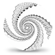 Sketch Spiral Loop - Dragon Skin Black & White - VideoHive Item for Sale