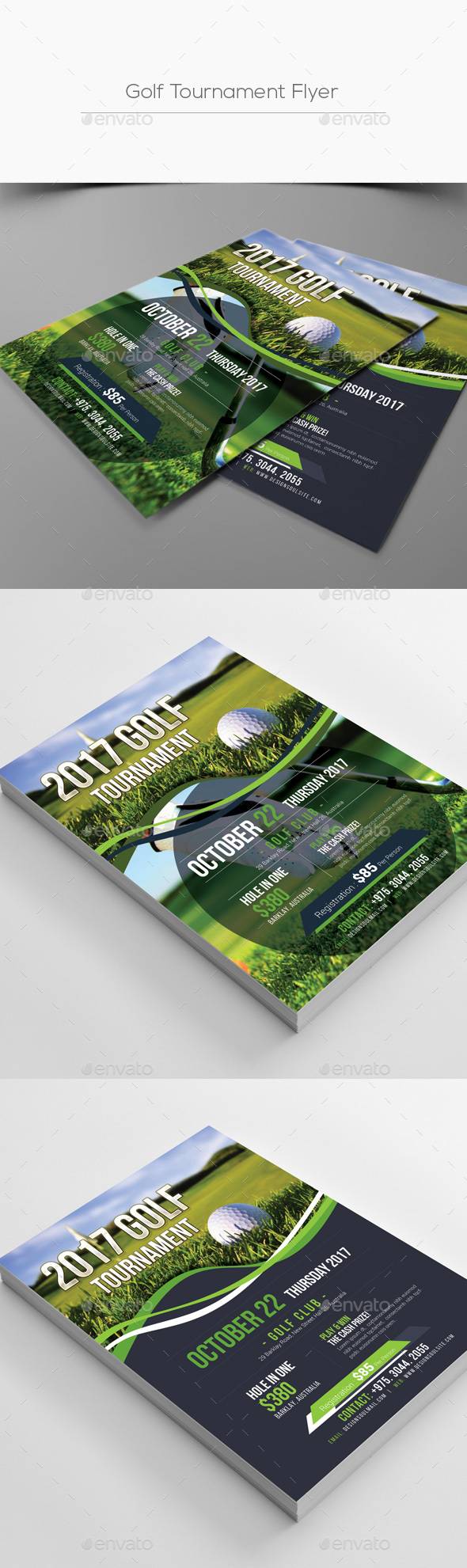 Golf Tournament Flyer - Corporate Flyers