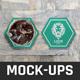Hexagonal Coaster Mock-Ups - GraphicRiver Item for Sale