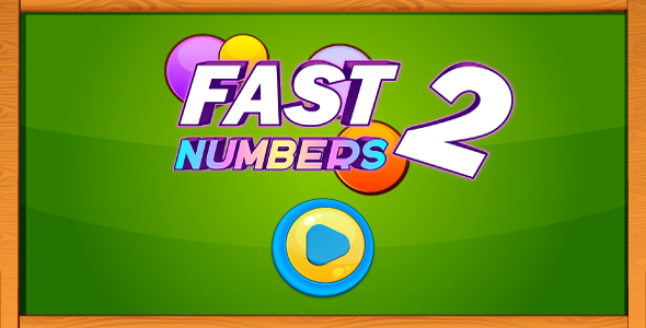 Fast numbers 2 - HTML5 game. Construct 2 (.capx) + mobile control - CodeCanyon Item for Sale