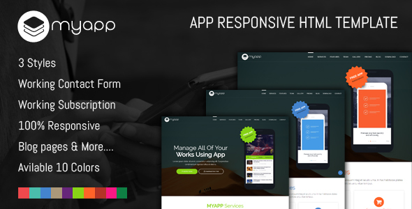 MyApp - App Responsive HTML Template - Software Technology