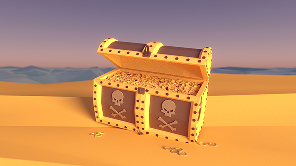 Pirate Chest Treasure - 3DOcean Item for Sale