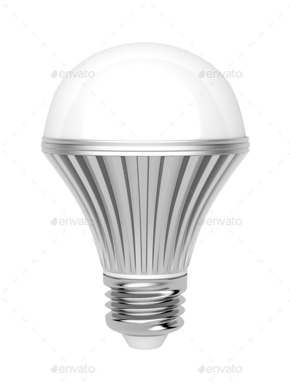 LED bulb on white background - Stock Photo - Images