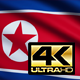 Flag 4K North Korea On Realistic Looping Animation With Highly Detailed Fabric - VideoHive Item for Sale