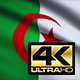 Flag 4K Algeria On Realistic Looping Animation With Highly Detailed Fabric - VideoHive Item for Sale