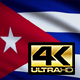 Flag 4K Cuba On Realistic Looping Animation With Highly Detailed Fabric - VideoHive Item for Sale