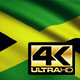 Flag 4K Jamaica On Realistic Looping Animation With Highly Detailed Fabric - VideoHive Item for Sale