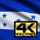 Flag 4K Honduras On Realistic Looping Animation With Highly Detailed Fabric - VideoHive Item for Sale