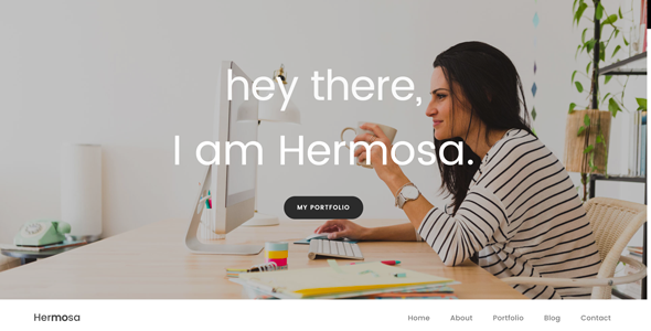 Hermosa - Portfolio One Page Template - Creative Site Templates
