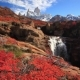 Beautiful View with Waterfall and Fitz Roy Mountain Patagonia - VideoHive Item for Sale