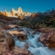 Fitz Roy Mountain in Sunrise Lights. Los Glaciares National Park, Patagonia, Argentina - VideoHive Item for Sale