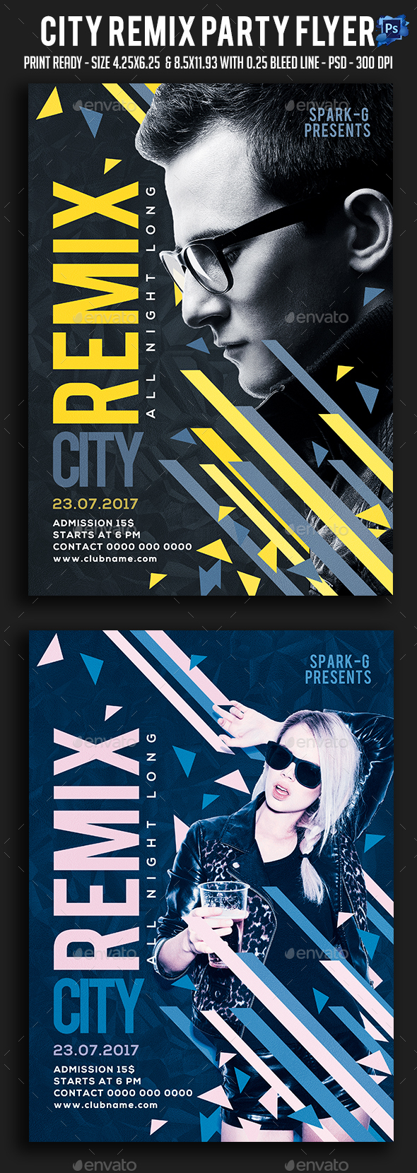 City Remix Party Flyer - Clubs & Parties Events