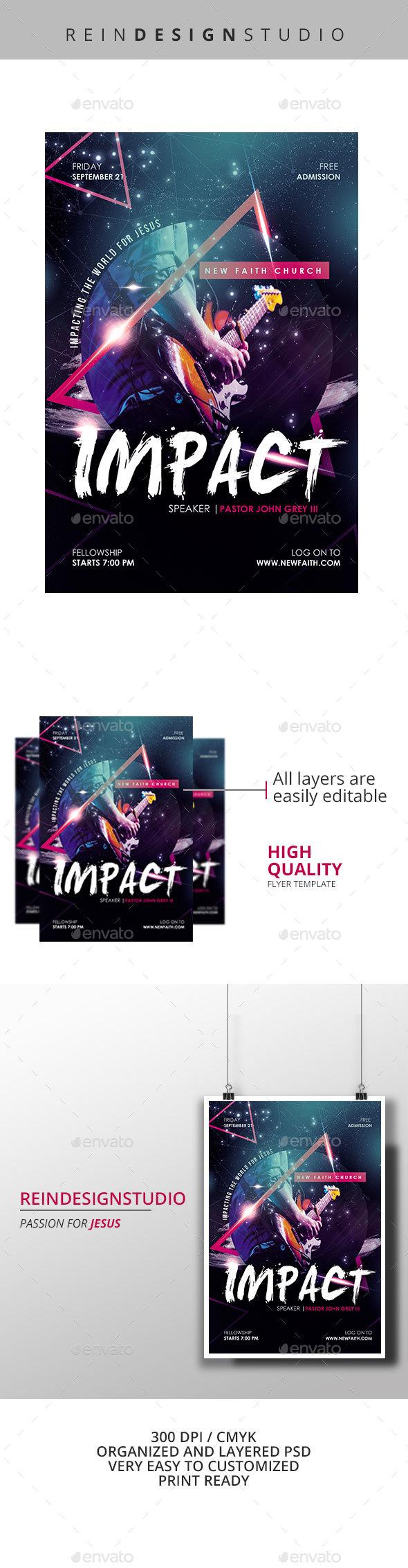 Impact Church Flyer - Church Flyers