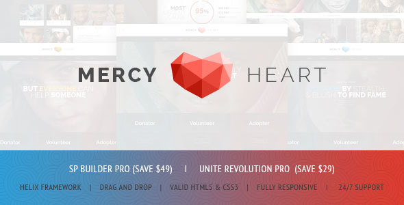 Image of Mercy Heart - Modern Charity Responsive Joomla Theme