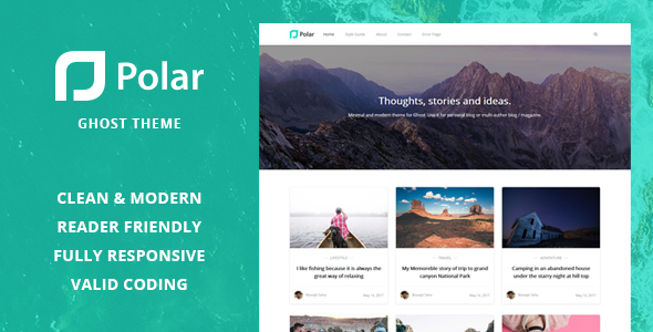 Polar – Minimal Blog and Magazine Ghost Theme