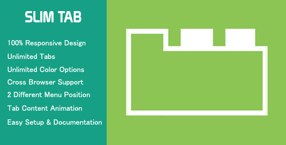 Slim Tab - Responsive WordPress Tabs - CodeCanyon Item for Sale