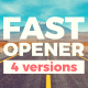 Fast Typograhy Opener - VideoHive Item for Sale