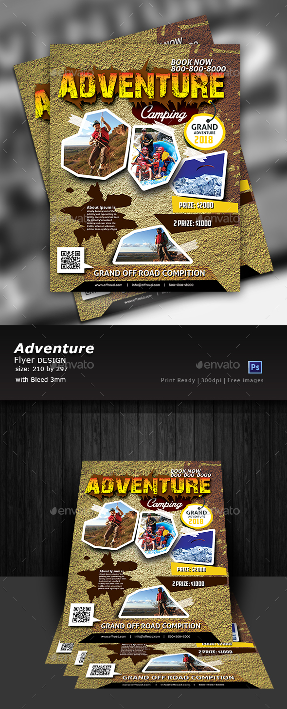 Camping Adventure Flyer - Flyers Print Templates