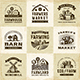 Vintage Organic Farming Labels Set - GraphicRiver Item for Sale