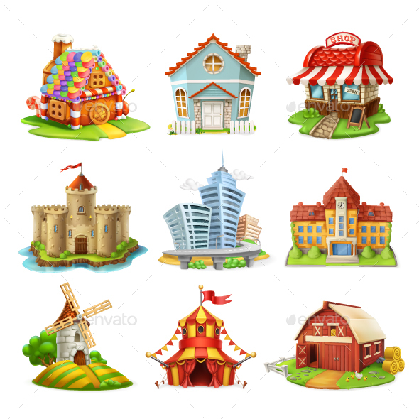 Houses and Castles - Buildings Objects