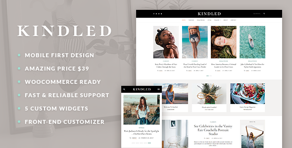 Kindled – Blog WordPress Theme