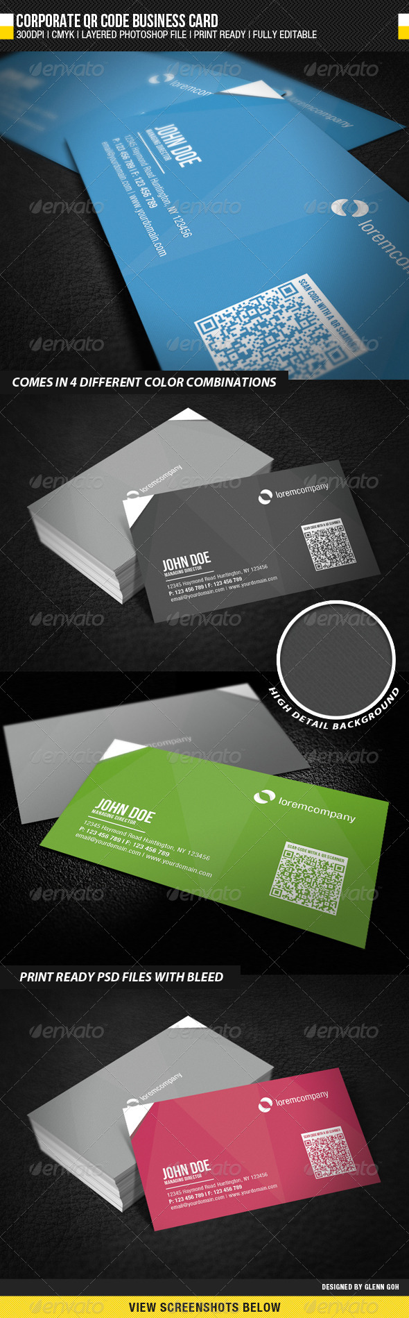 Corporate QR Code Business Card - Corporate Business Cards