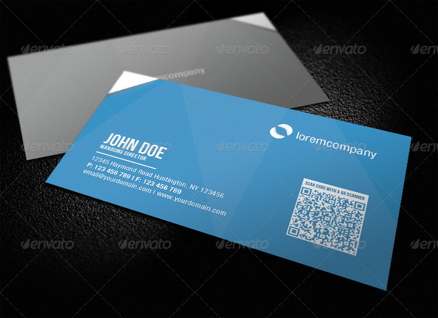 Corporate qr code business card by glenngoh graphicriver corporate qr code business card colourmoves Images