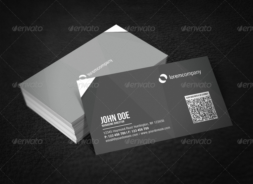 Corporate QR Code Business Card by glenngoh | GraphicRiver