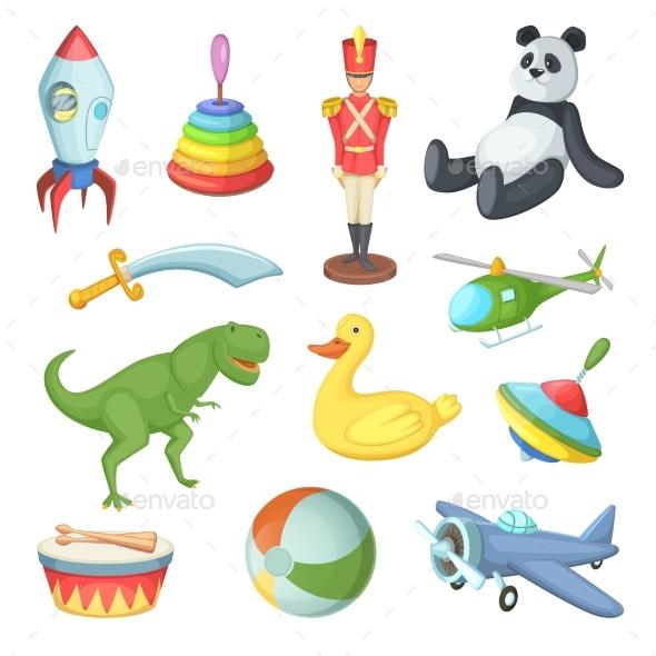 Cartoon Toys - Man-made Objects Objects