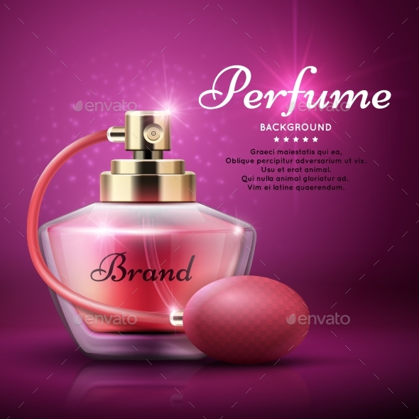 Perfume Product Vector Background - Man-made Objects Objects