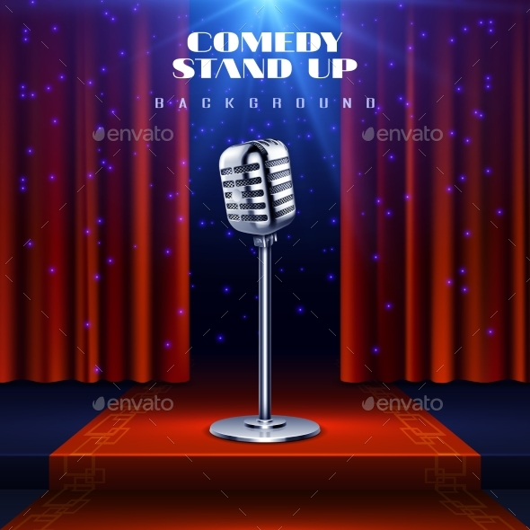 Stand Up Comedy Vector Background - Miscellaneous Vectors