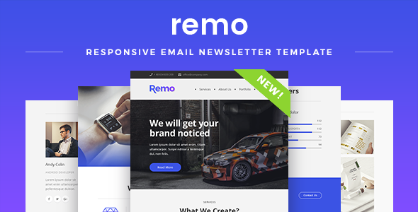 Remo - Responsive Email Newsletter Template - Newsletters Email Templates