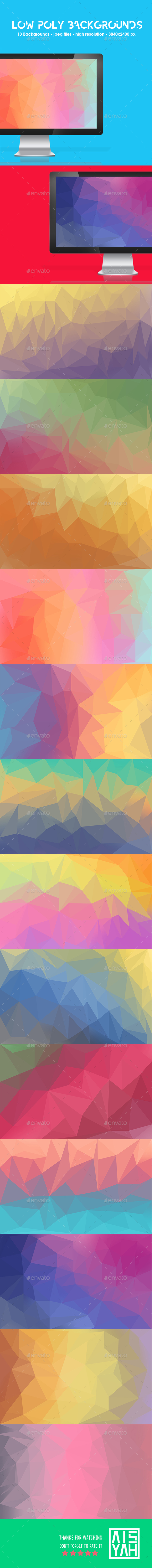 Low Poly Backgrounds - Backgrounds Graphics