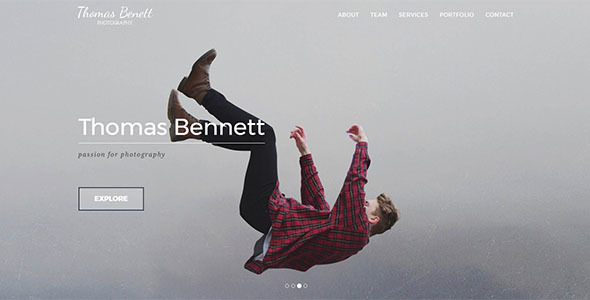 Thomas Benett - Creative Photography Template