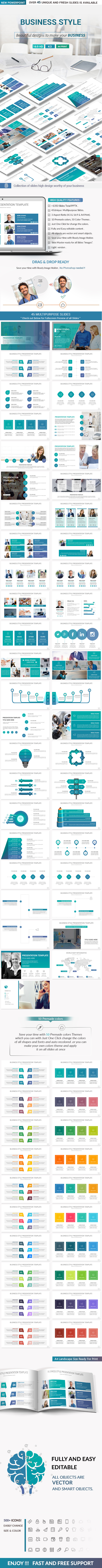 Business Style PowerPoint Presentation Template - Business PowerPoint Templates