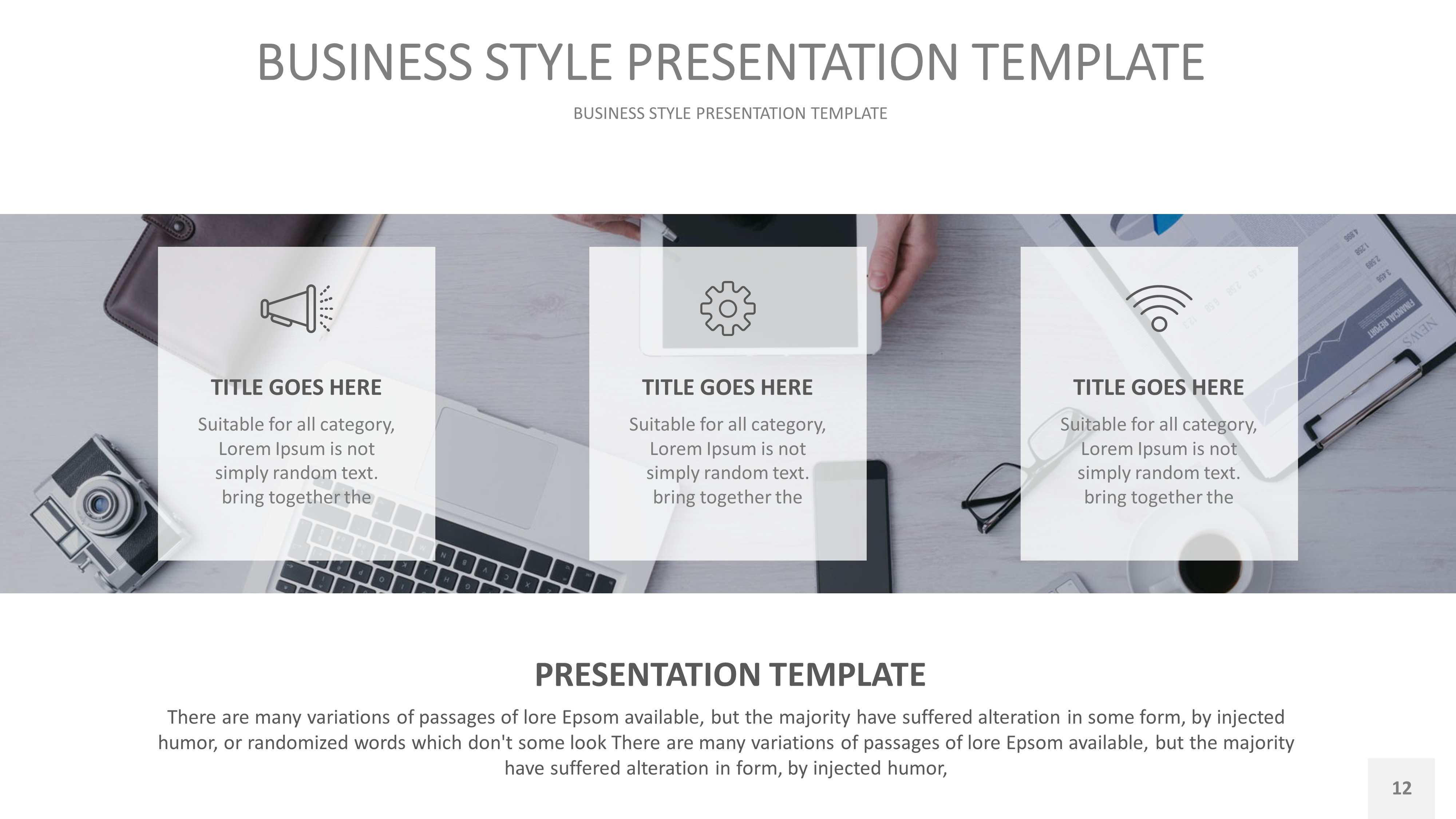 Business Style PowerPoint Presentation Template by rengstudio ...