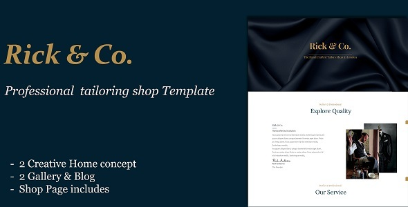 Rick & Co | Custom Tailoring and Clothing Shop HTML Template